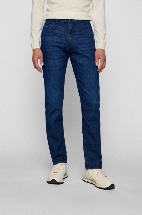 Relaxed-fit jeans van donkerblauw superzacht denim, Donkerblauw