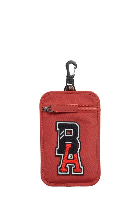 Neck pouch in recycled nylon with exclusive logo, Red