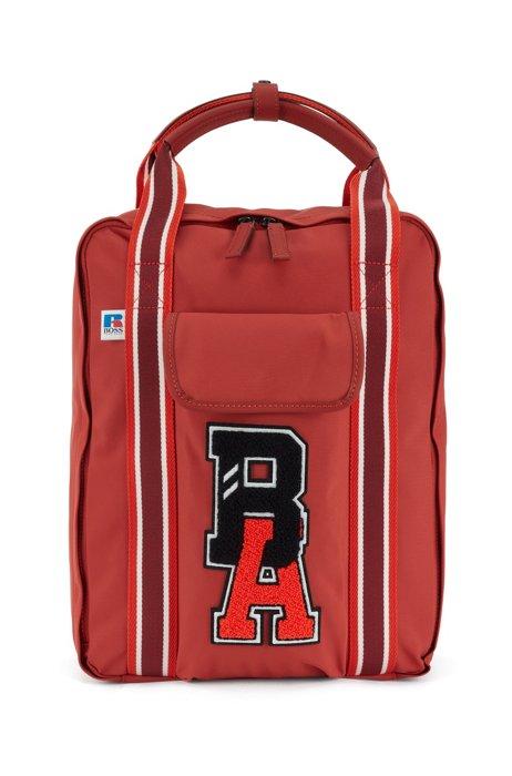 Rugtas van gerecycled technisch materiaal met exclusief logo, Rood