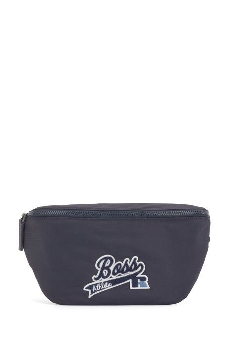 Belt bag in recycled nylon with exclusive logo, Dark Blue