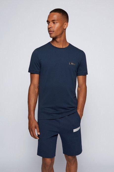 T-shirt Slim Fit à logo contrastant, Bleu foncé