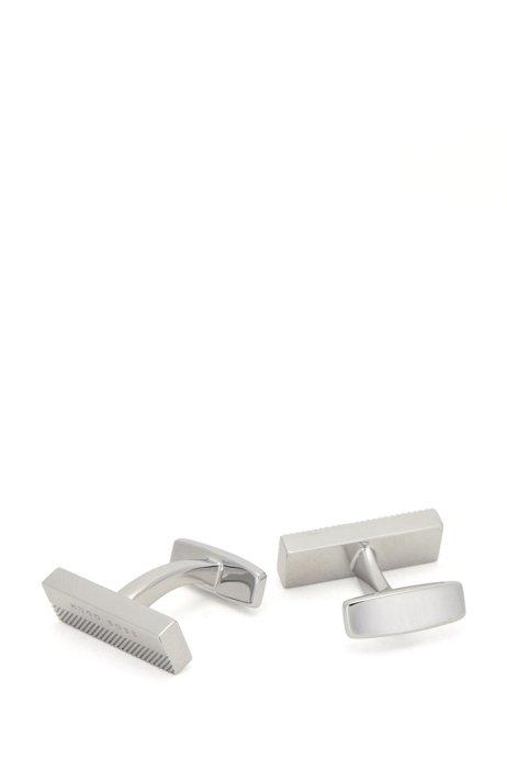 Cadeauset met dasspeld en manchetknopen met logo, Zilver