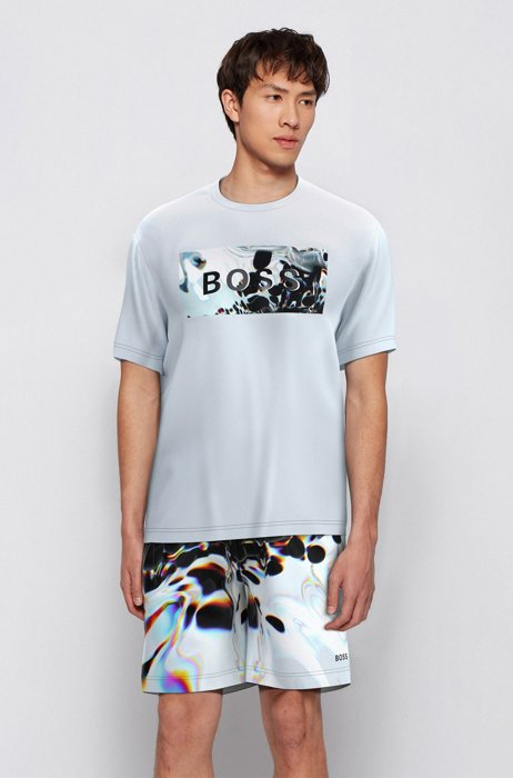 Relaxed-fit cotton T-shirt with logo artwork by Maxim Zhestkov, White