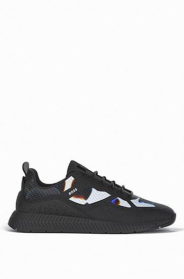 季节性款式的混合材质运动鞋,  960_Open Miscellaneous