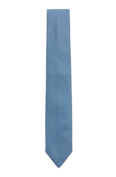 Cravate en jacquard de soie à motif, bleu clair