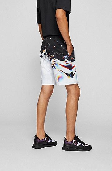 创意图案装饰棉混纺徽标短裤,  960_Open Miscellaneous