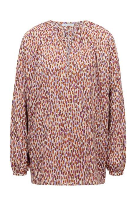 Camiseta regular fit de manga larga con estampado de temporada , Fantasía