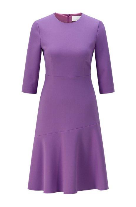 Kleid mit Cropped-Ärmeln und LENZING™-ECOVERO™-Fasern, Lila