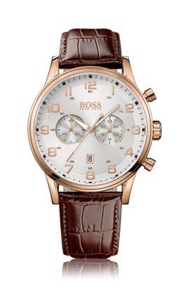 Chronographe «HB6014» avec bracelet en cuir, Assorted-Pre-Pack