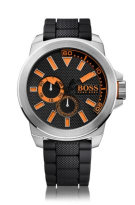 Multi-eye watch with stainless-steel case: 'HB2221', Orange