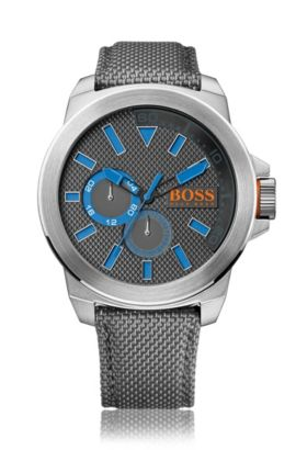 Watch with stainless-steel casing: 'HB2221', Grey