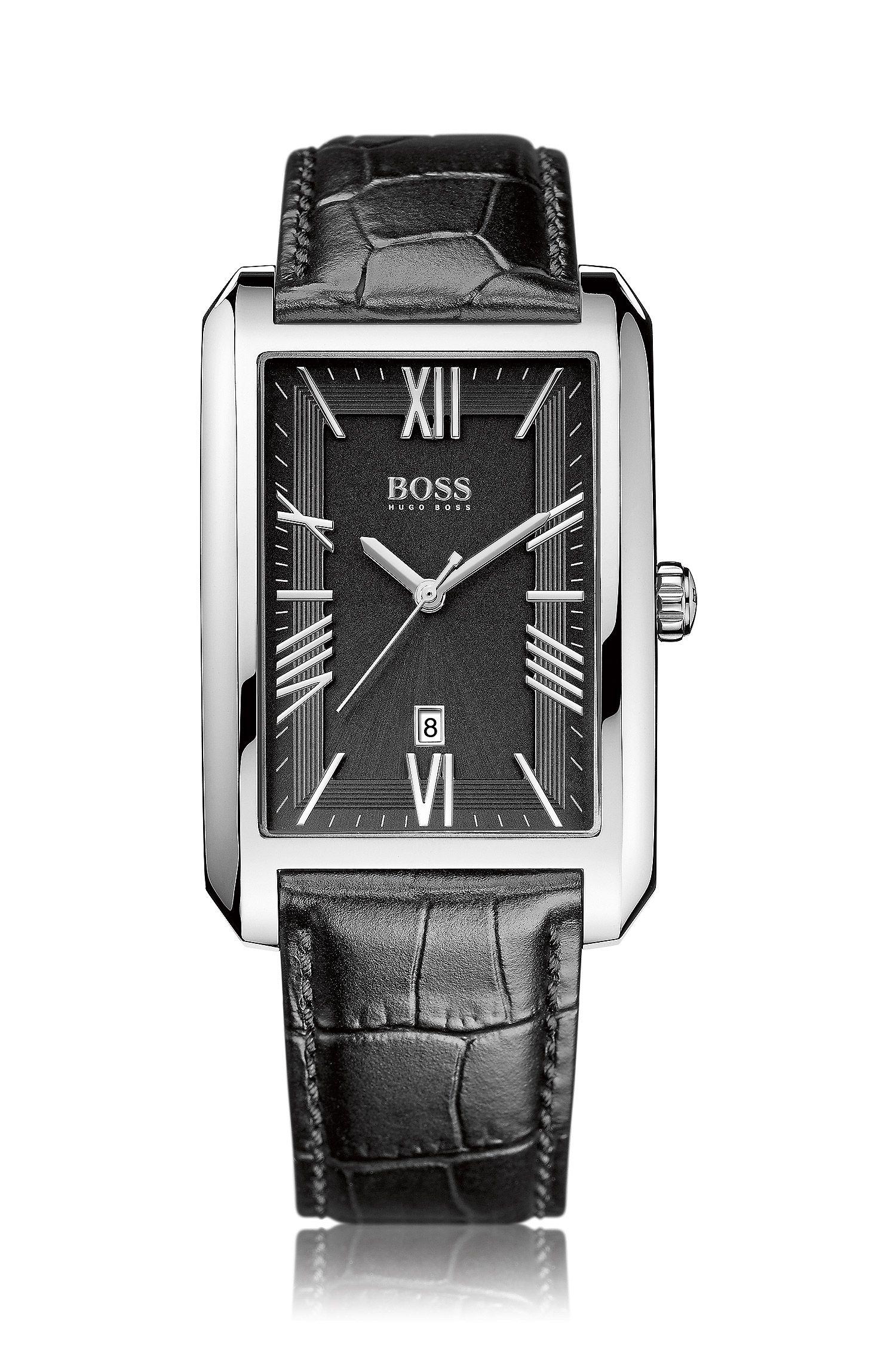 Montre-bracelet «HB6039» avec bracelet en cuir