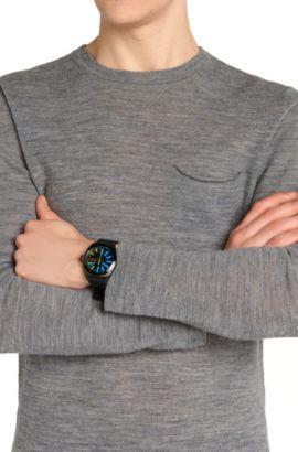 Montre-bracelet avec boîtier en acier inox noirci: «HB1851», Assorted-Pre-Pack