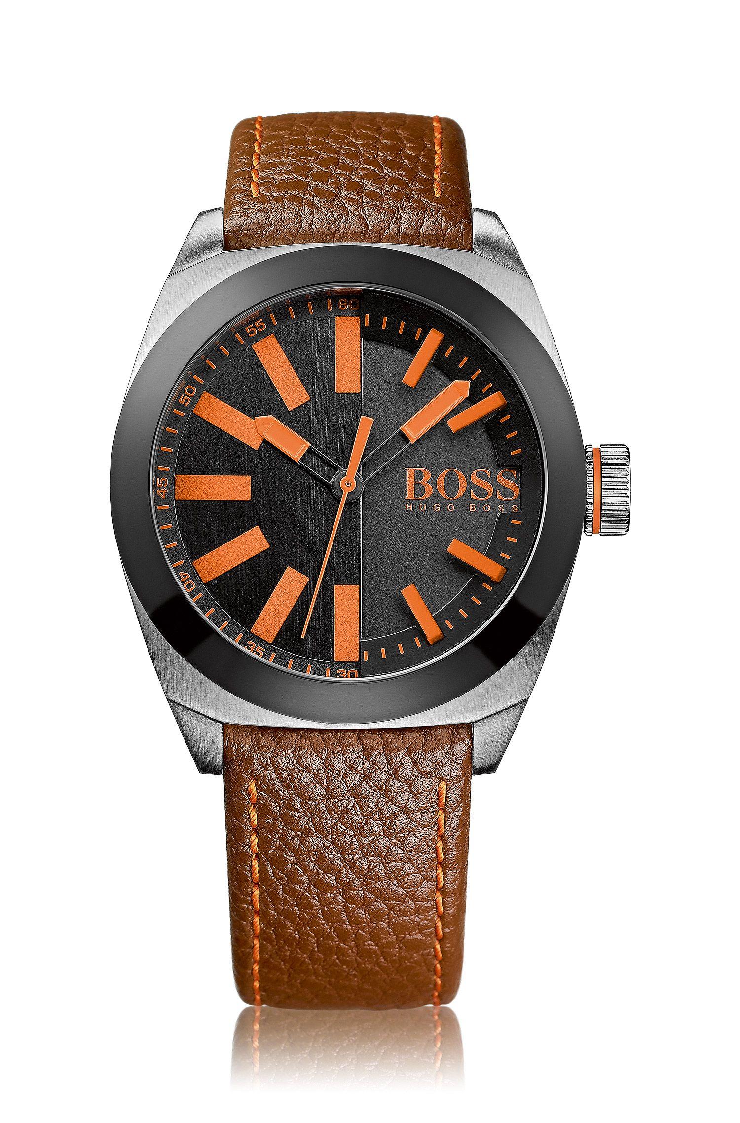 Armbanduhr ´HO300` mit Lederarmband
