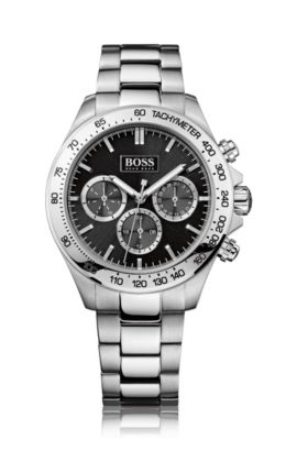 Montre chronographe « HB6030 » en acier inoxydable, Assorted-Pre-Pack