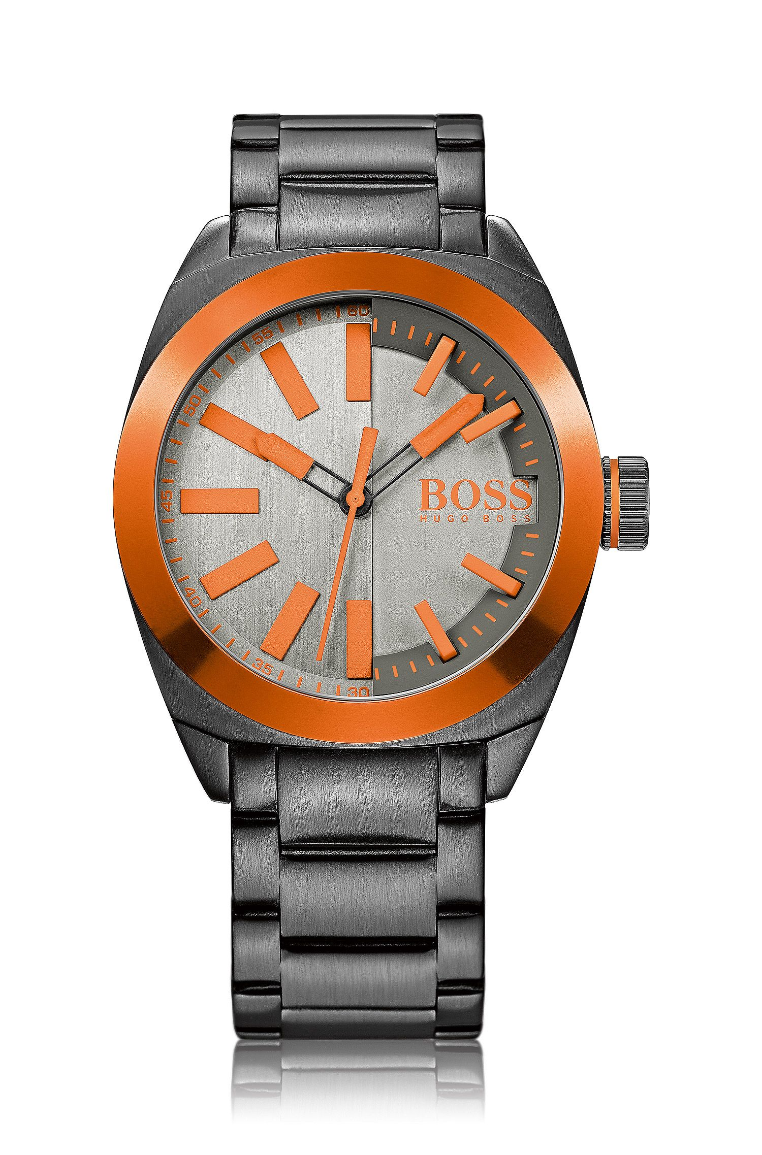 Wristwatch in stainless steel with link strap: 'HB1851'