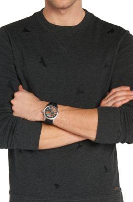 Montre-bracelet avec boîtier en acier inoxydable et affichage central des secondes: «HB2071», Assorted-Pre-Pack