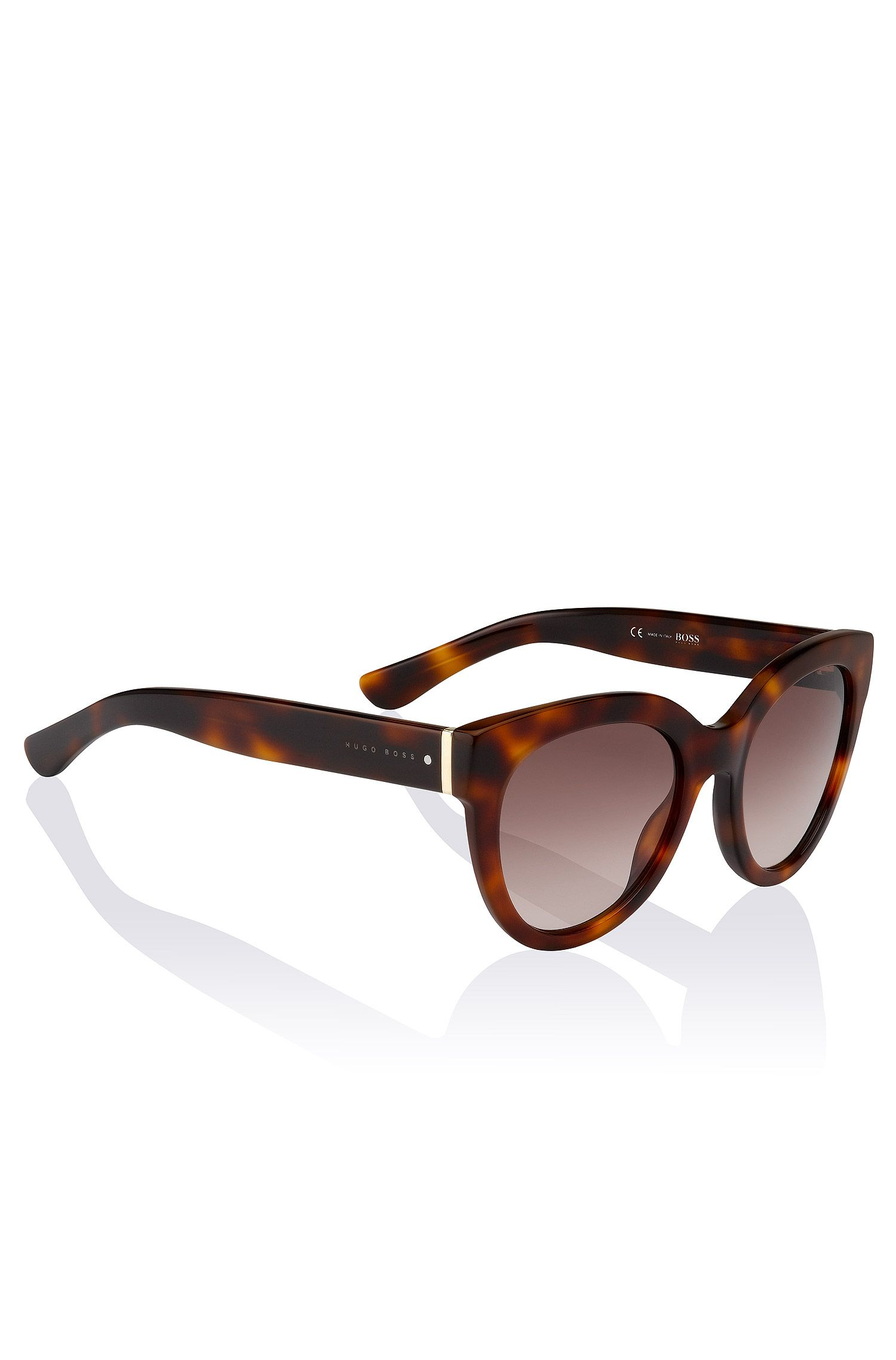 Cat-eye-zonnebril 'BOSS 0675' van acetaat en metaal