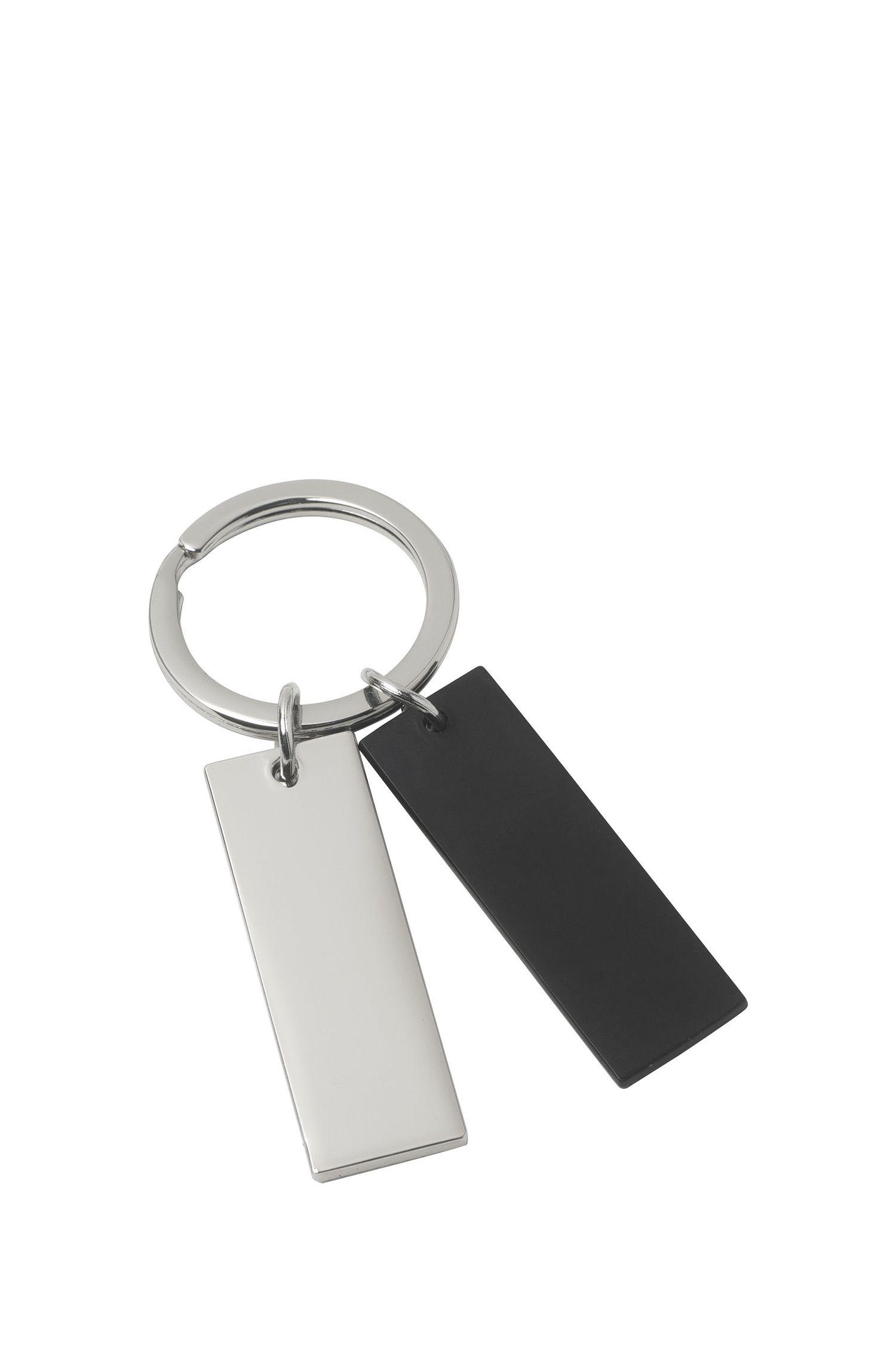 Porte-clés bicolore avec double pendentifs