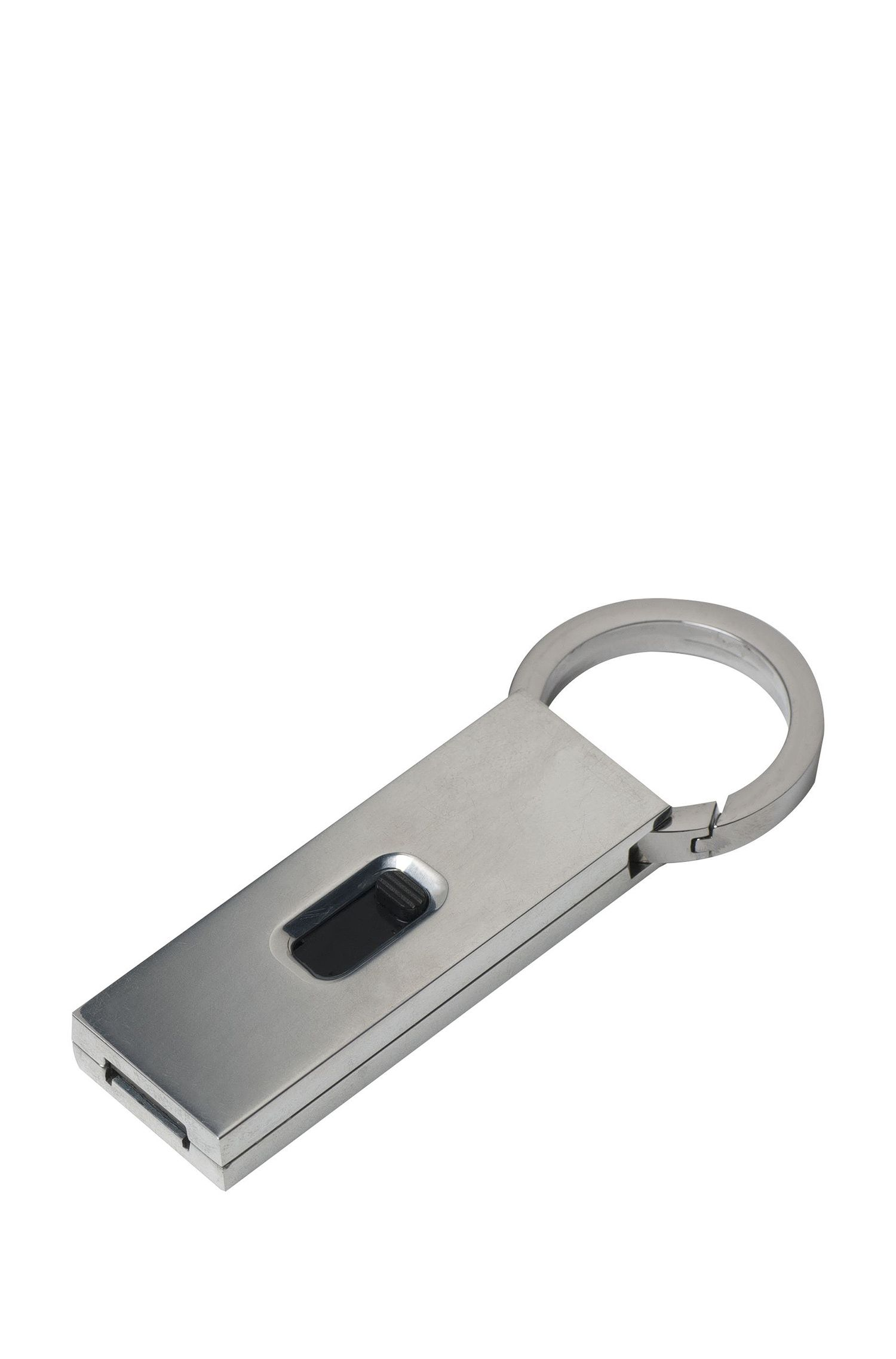 16GB USB stick in faux leather, Black
