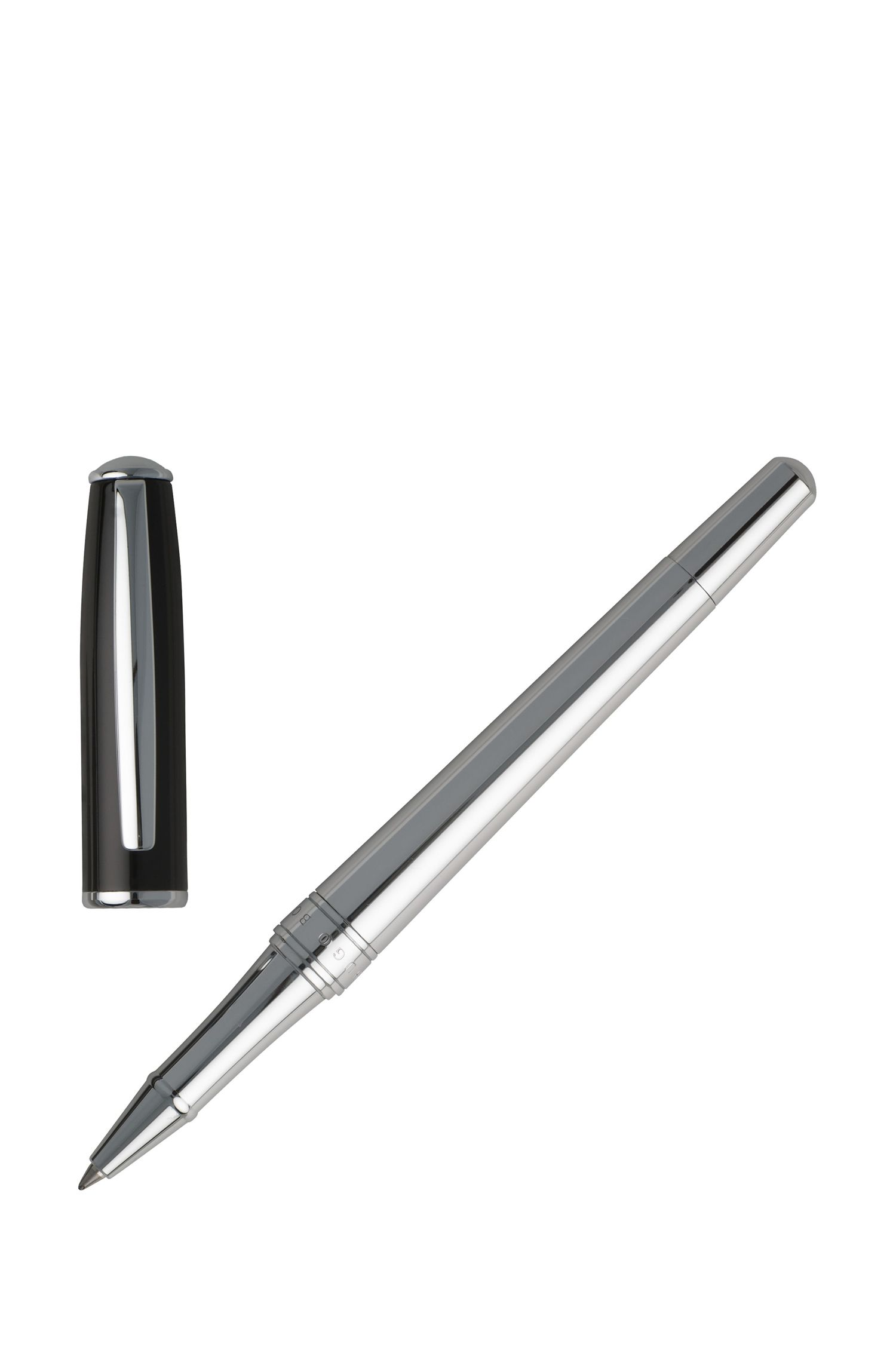 Rollerball pen with black-lacquer cap