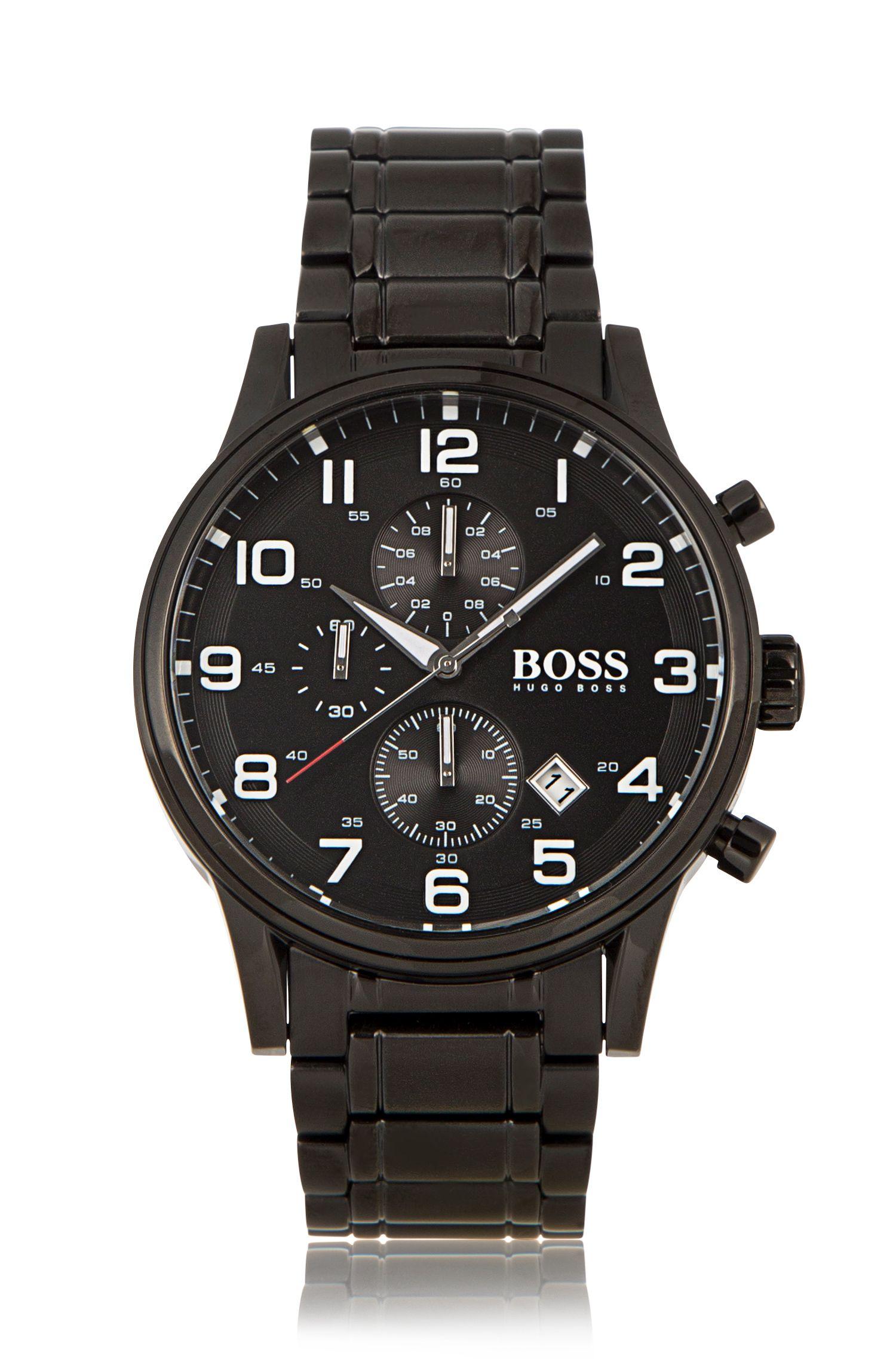 Chronograph 'HBAERIR' with a black stainless-steel casing