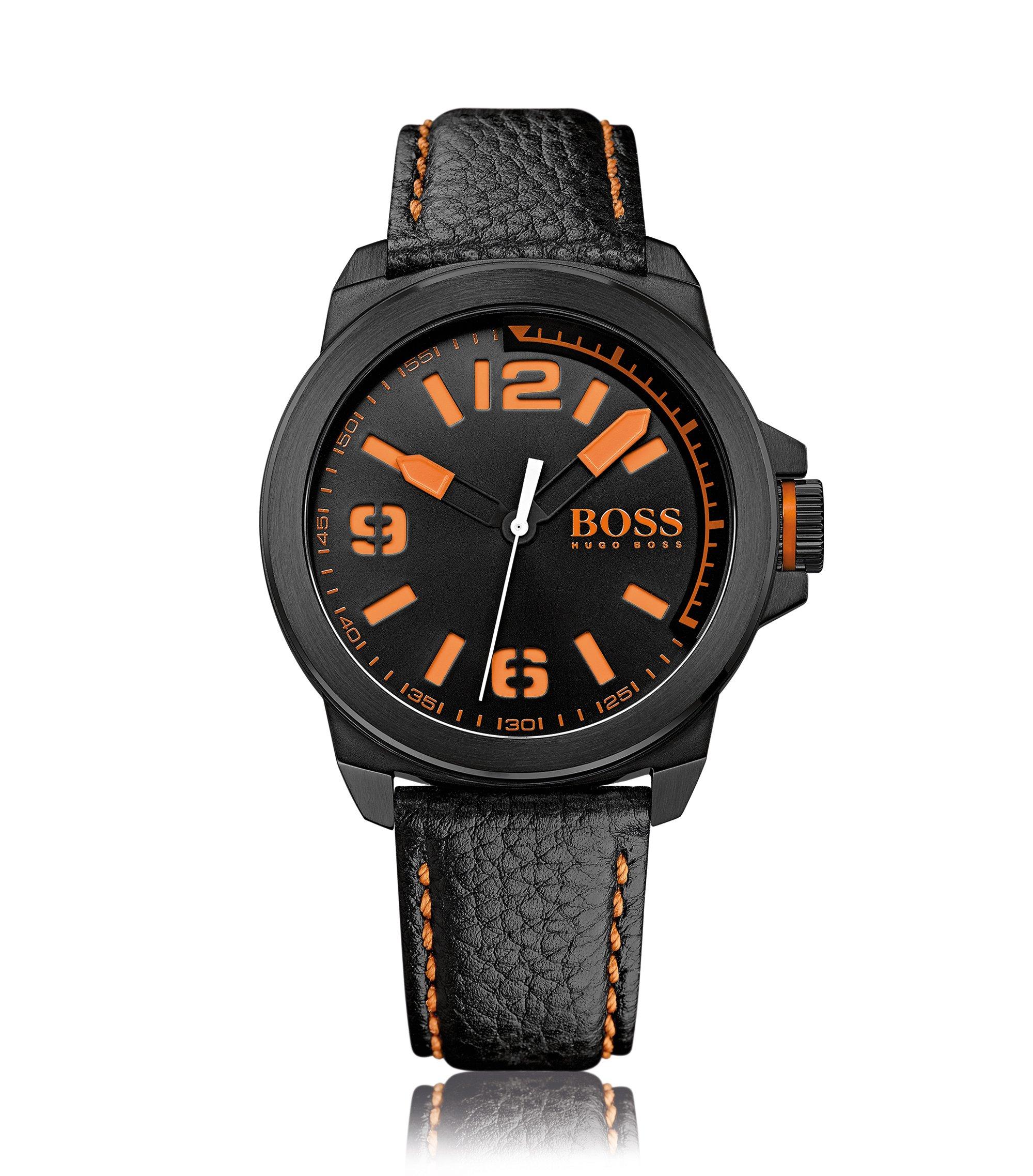 Armbanduhr mit Edelstahlgehäuse:'HB2381', Orange