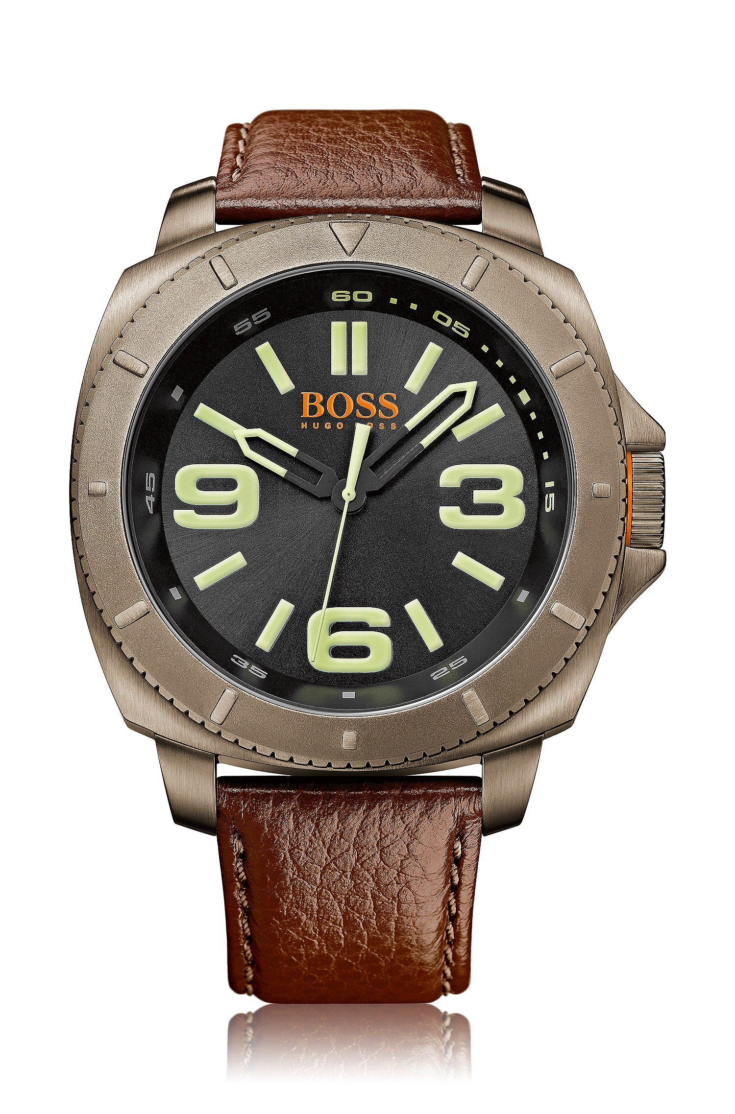 Wristwatch 'HOSAOPO' with a leather strap
