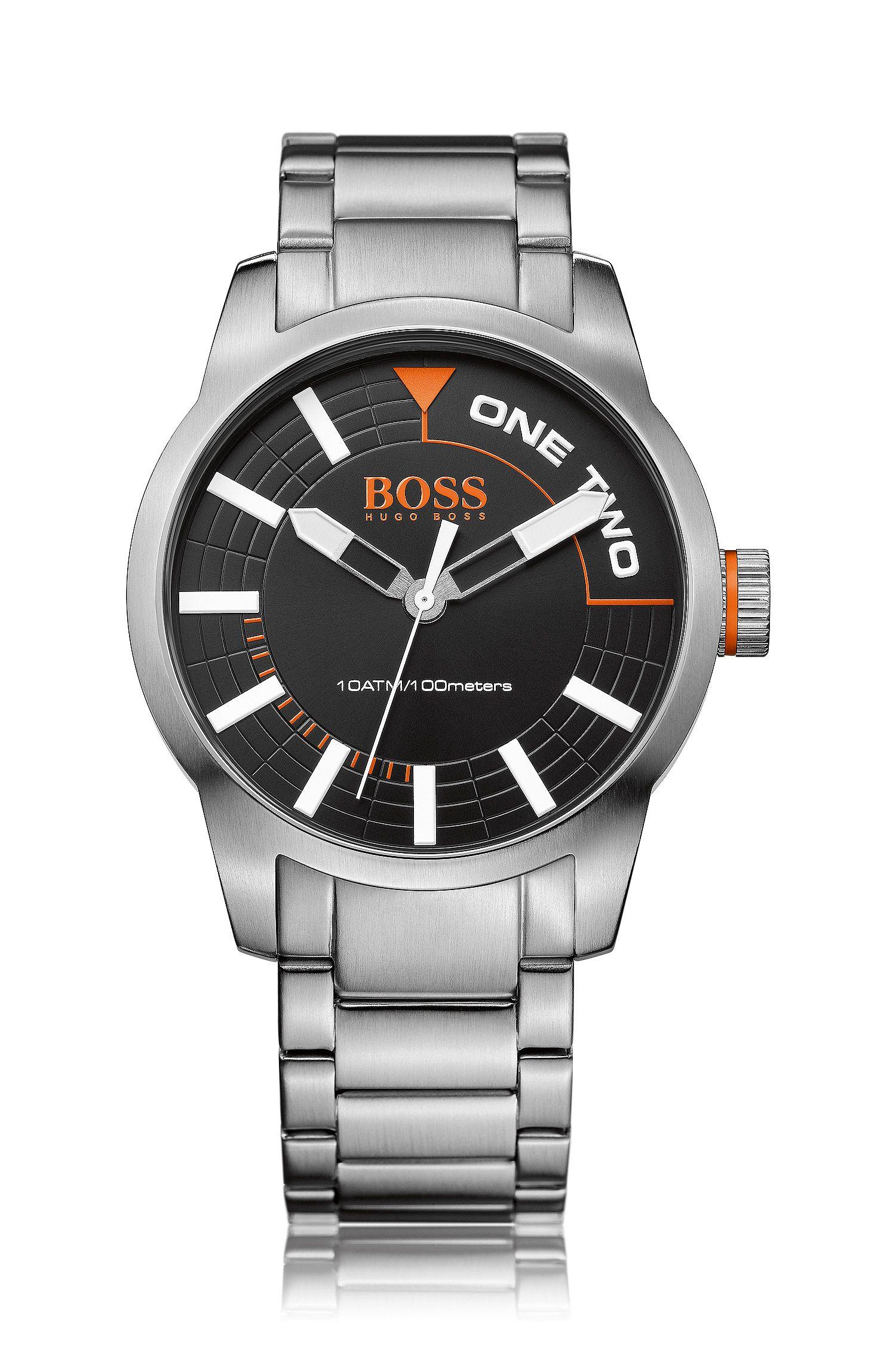 Horloge van roestvrij staal met drie wijzers: 'HB2681'
