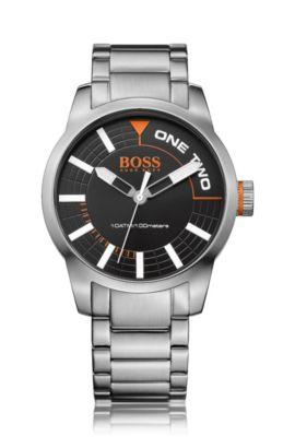 Horloge van roestvrij staal met drie wijzers: 'HB2681', Assorted-Pre-Pack