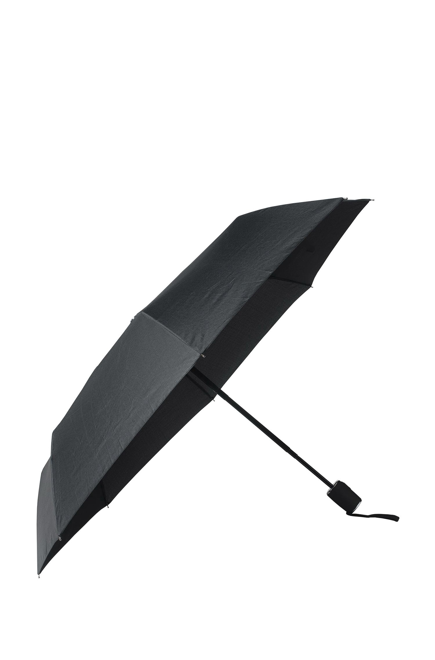 Grid-pattern pocket umbrella with automatic opening, Black