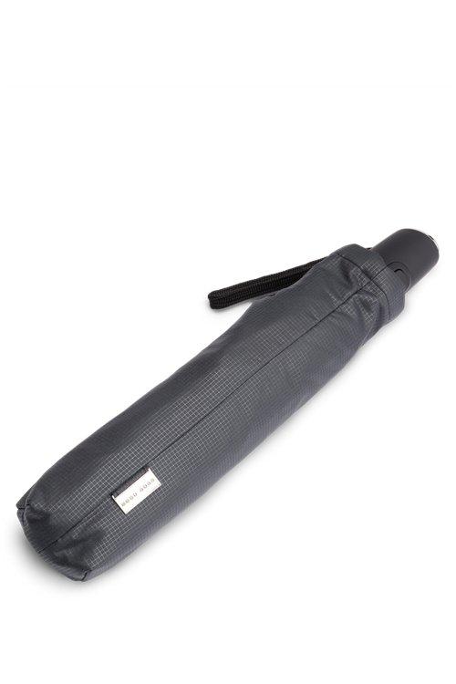 Hugo Boss - Grid-pattern pocket umbrella with automatic opening - 2