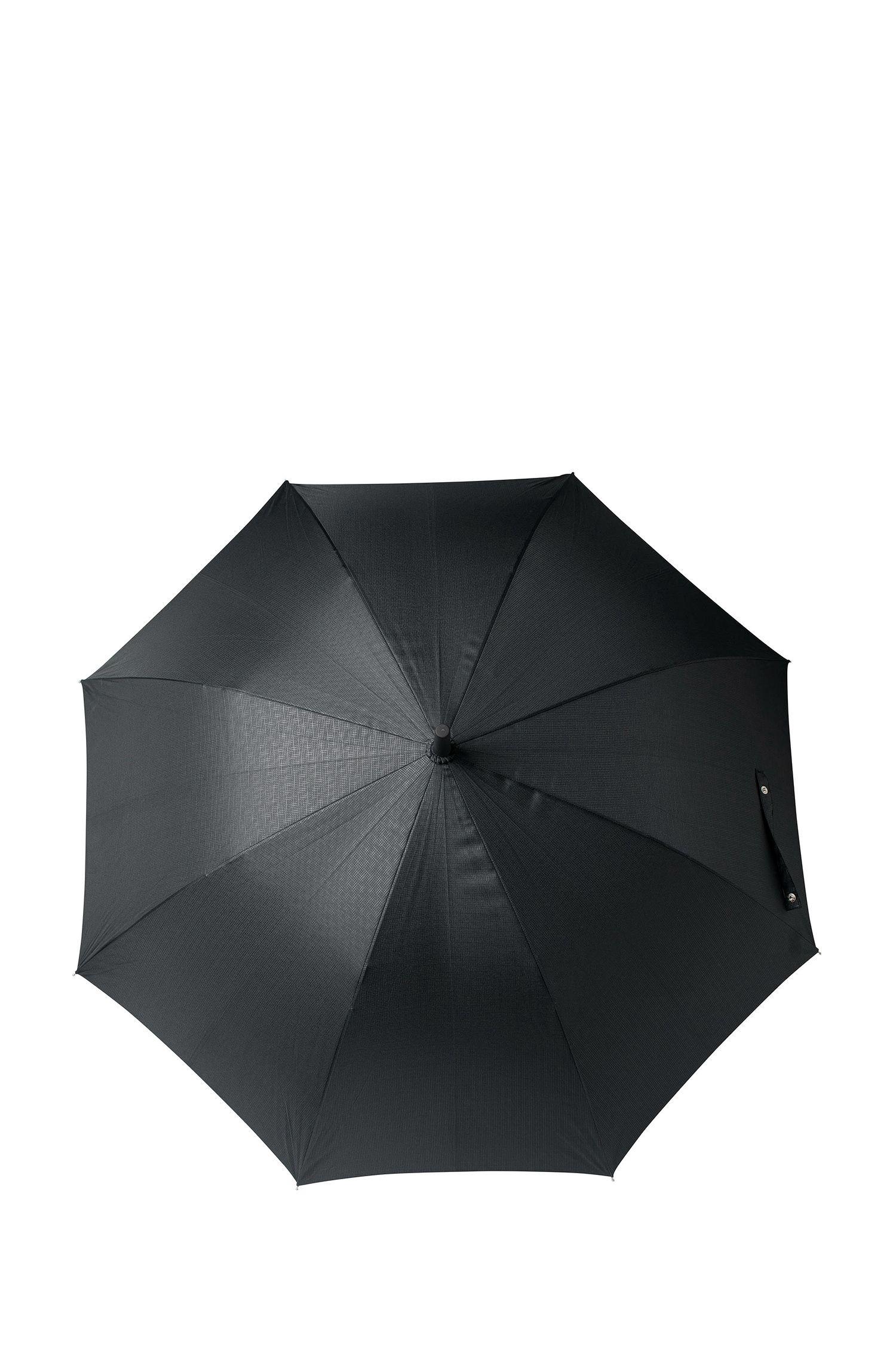 Golfparaplu met zwart dessin en frame van glasvezel, Zwart