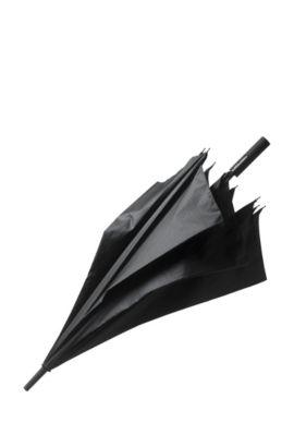Gemusterter Golf-Regenschirm aus einem Material-Mix mit Fiberglas-Gestänge, Schwarz