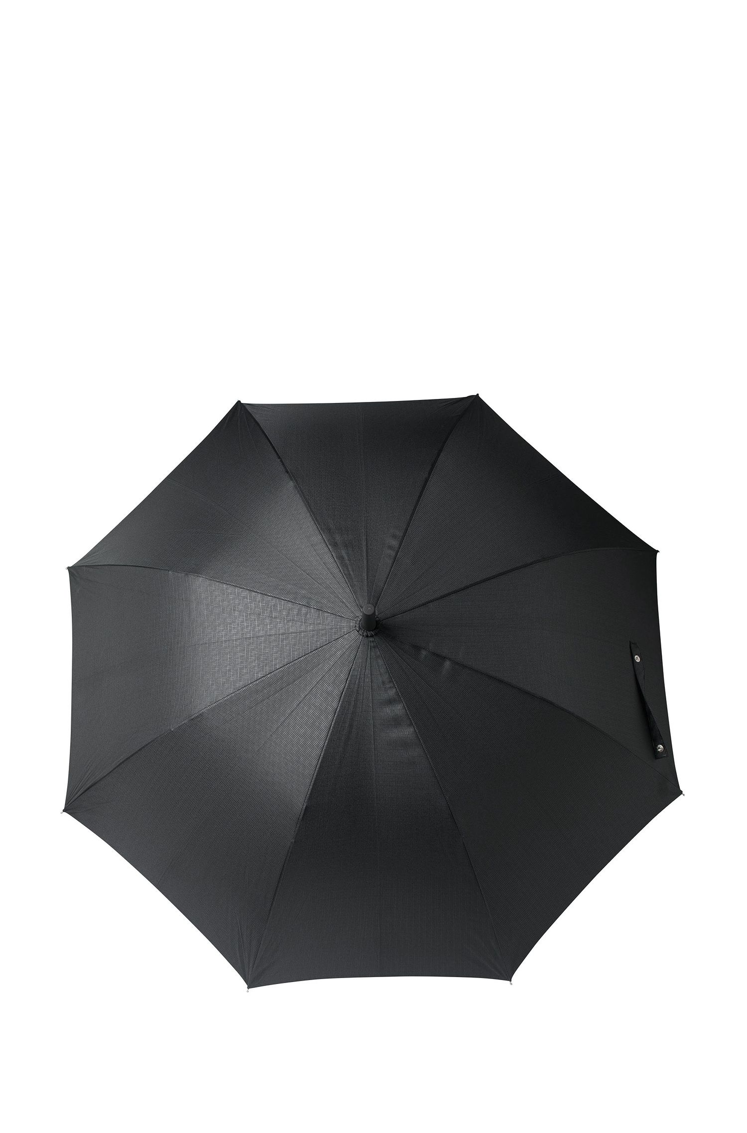 Black patterned golf umbrella with fibreglass frame