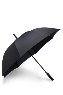 Parapluie avec ouverture automatique, noir à motif, Noir