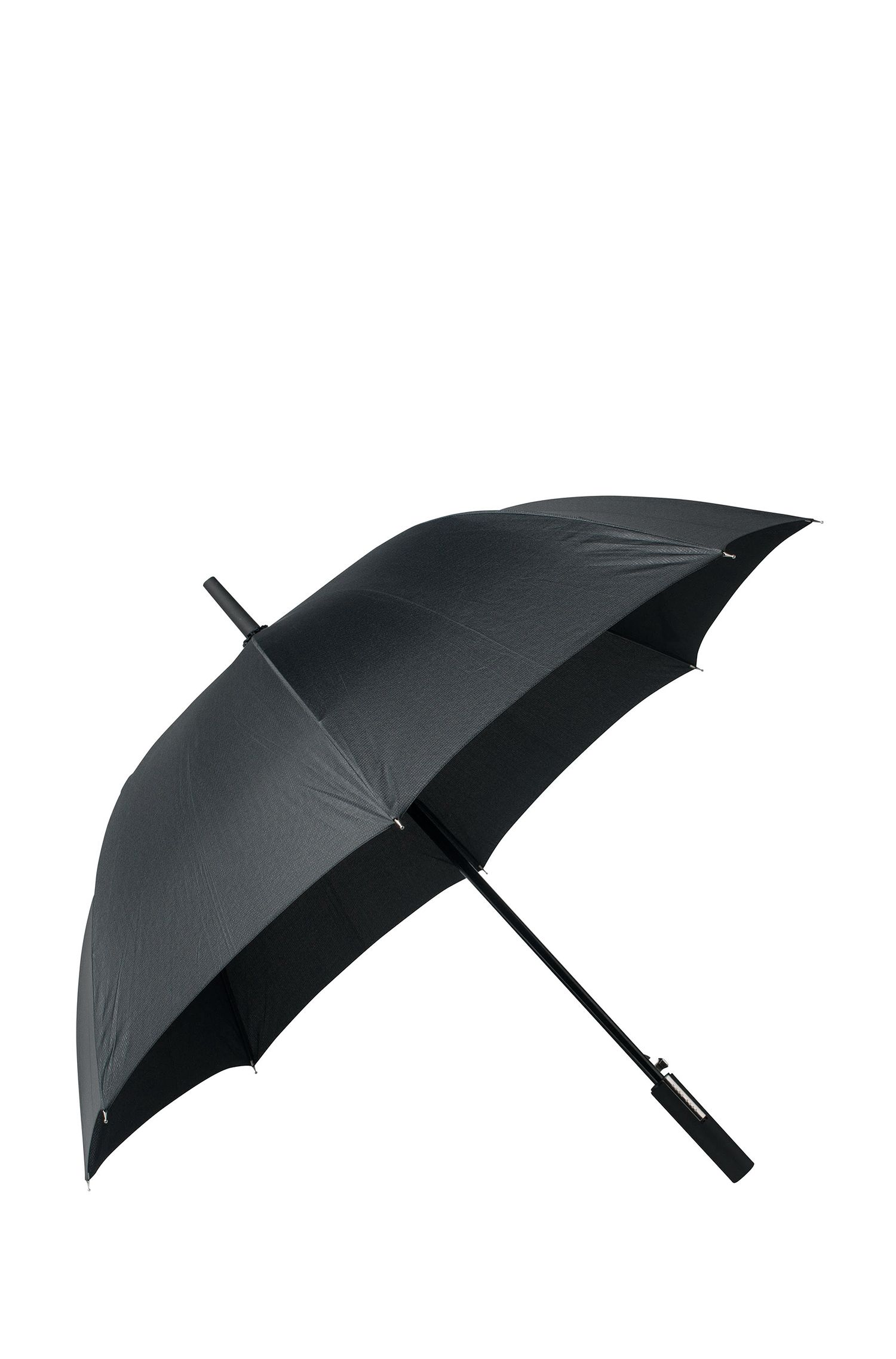 Black patterned umbrella with automatic trigger, Black