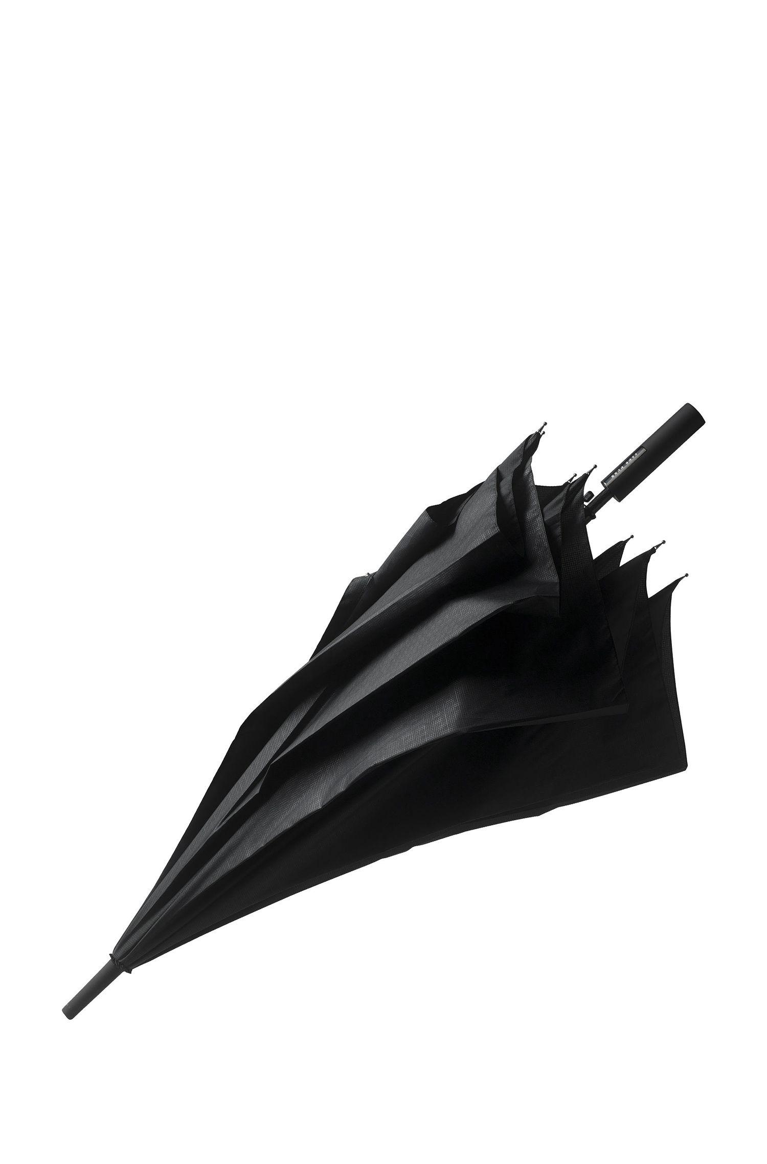 Paraplu met zwart dessin en automatisch openingsmechanisme