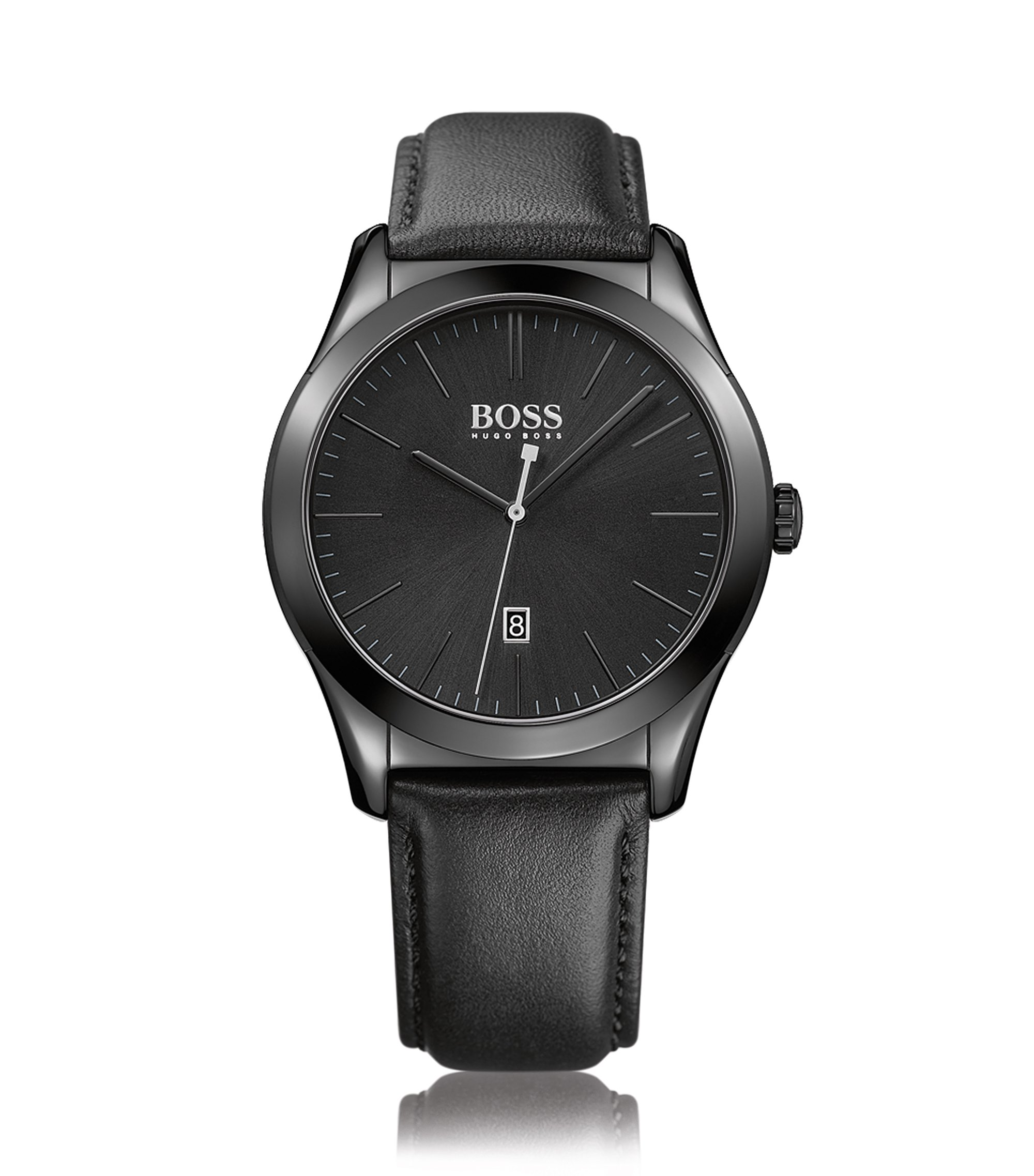 Montre-bracelet avec mouvement à quartz et bracelet en cuir: «AMBMN», Assorted-Pre-Pack