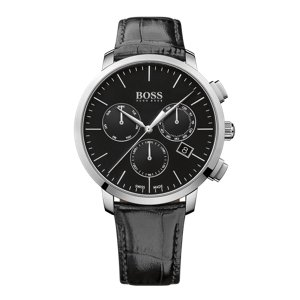 Reloj de acero inoxidable pulido con tres manecillas