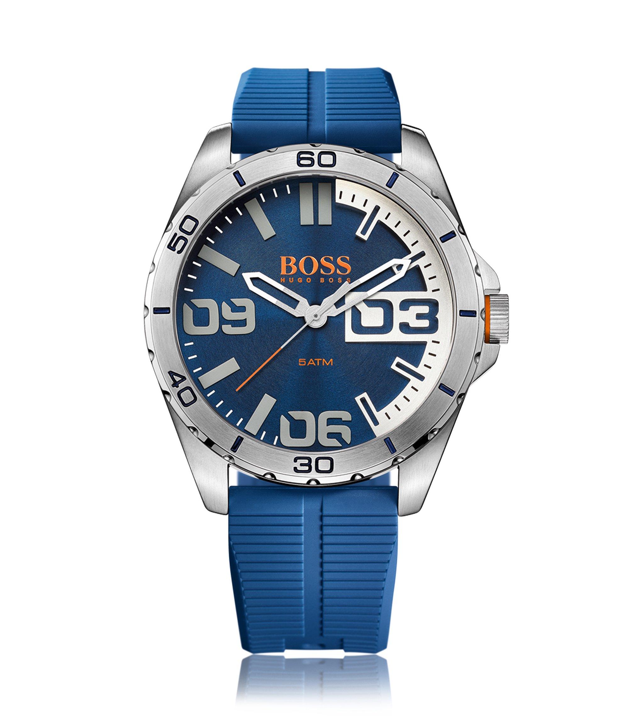 Armbanduhr mit Edelstahlgehäuse: 'HOBERLI', Blau
