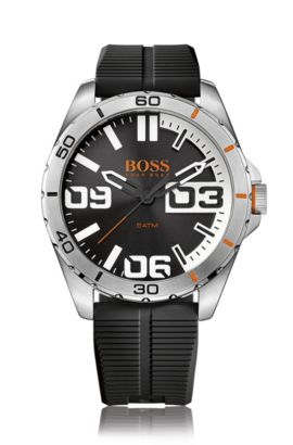 Reloj de pulsera con caja de acero inoxidable: 'HOBERLI', Plata