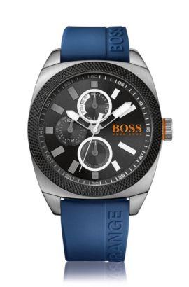 Extra große Multieye-Uhr mit Edelstahlgehäuse: 'HOLONDN', Blau