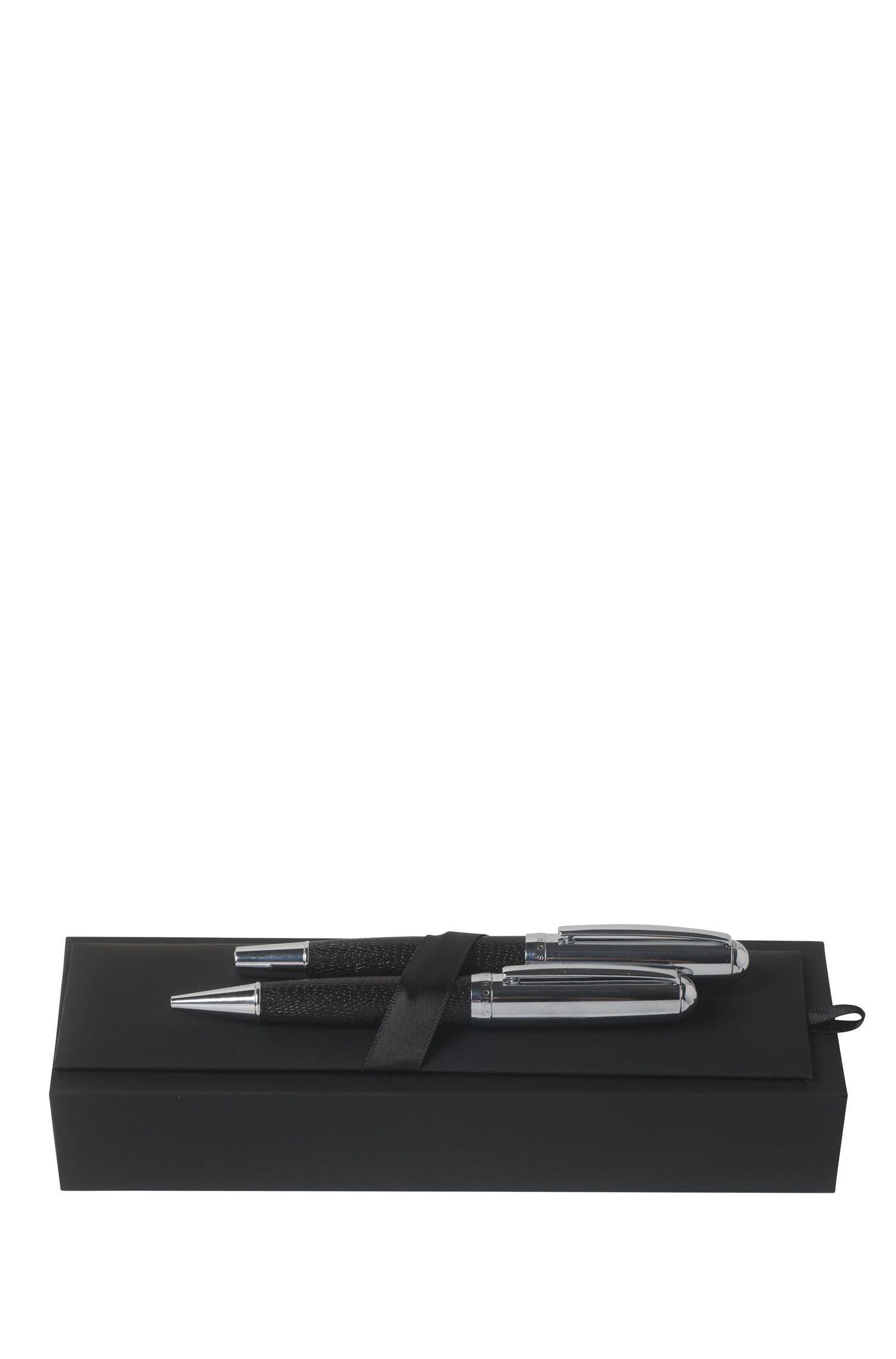 Gift set with ballpoint and rollerball pens