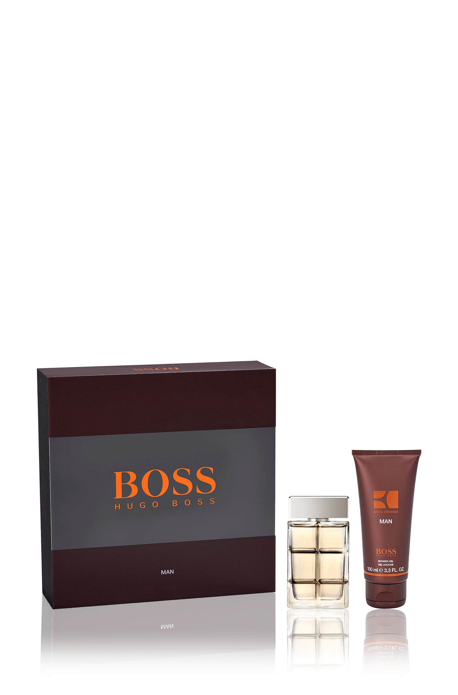 Cadeauset 'BOSS Orange Man' met eau de toilette 40 ml en douchegel