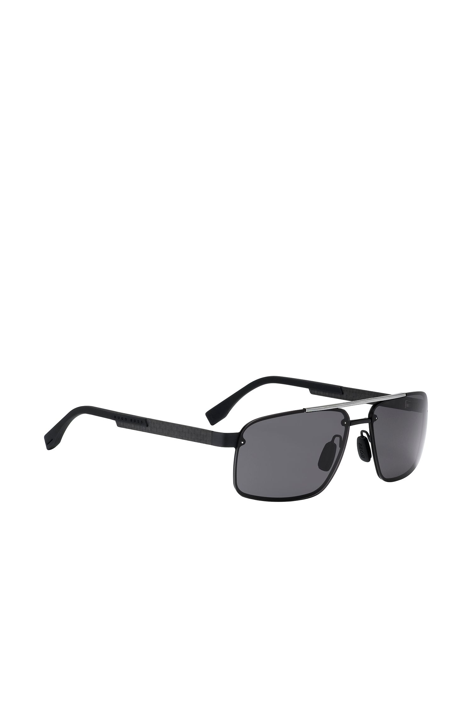 Navigator sunglasses with black metal frames: 'BOSS 0773/S'