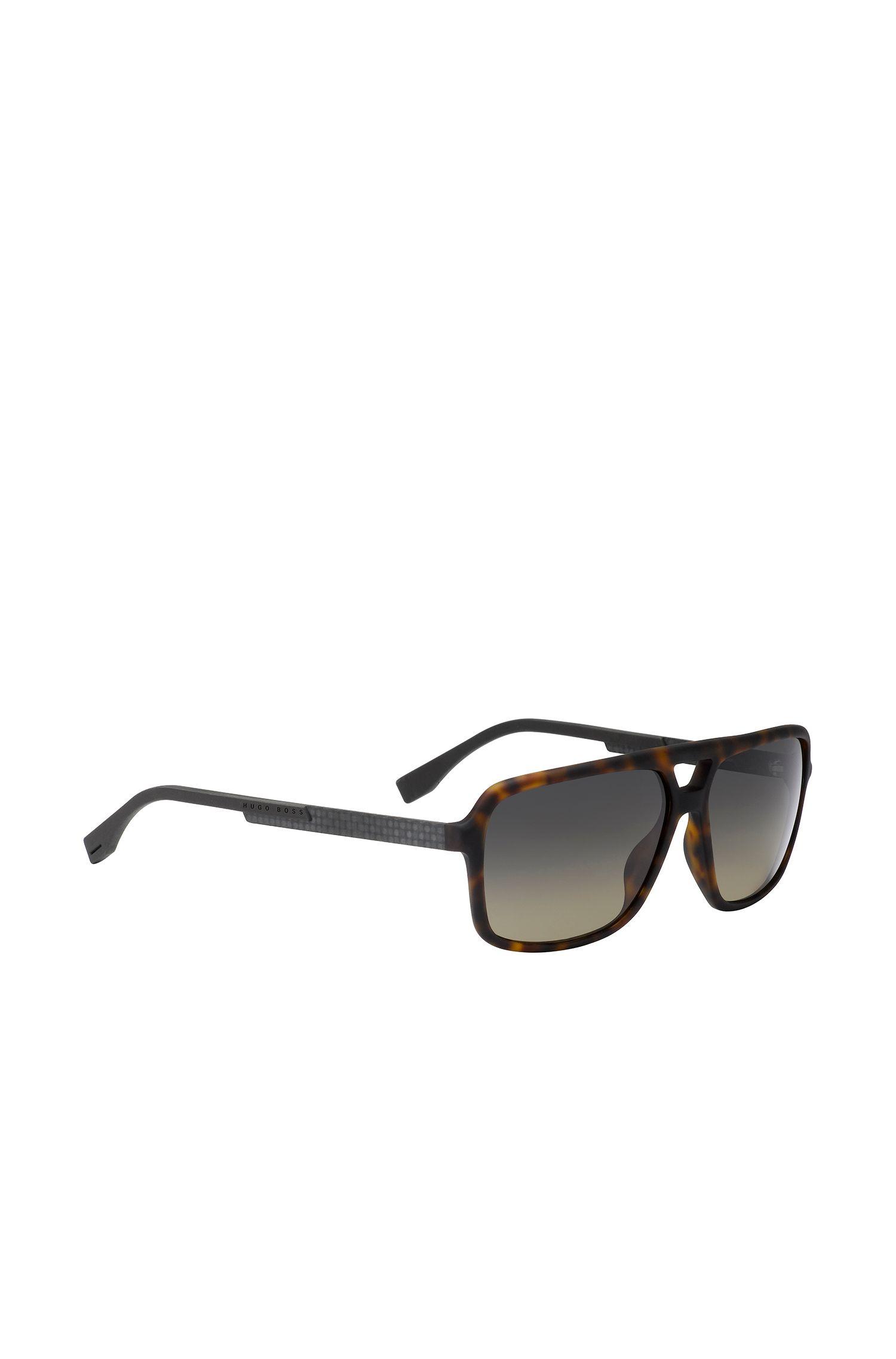 Markante Piloten-Sonnenbrille aus verstärktem Gummi: 'BOSS 0772/S'