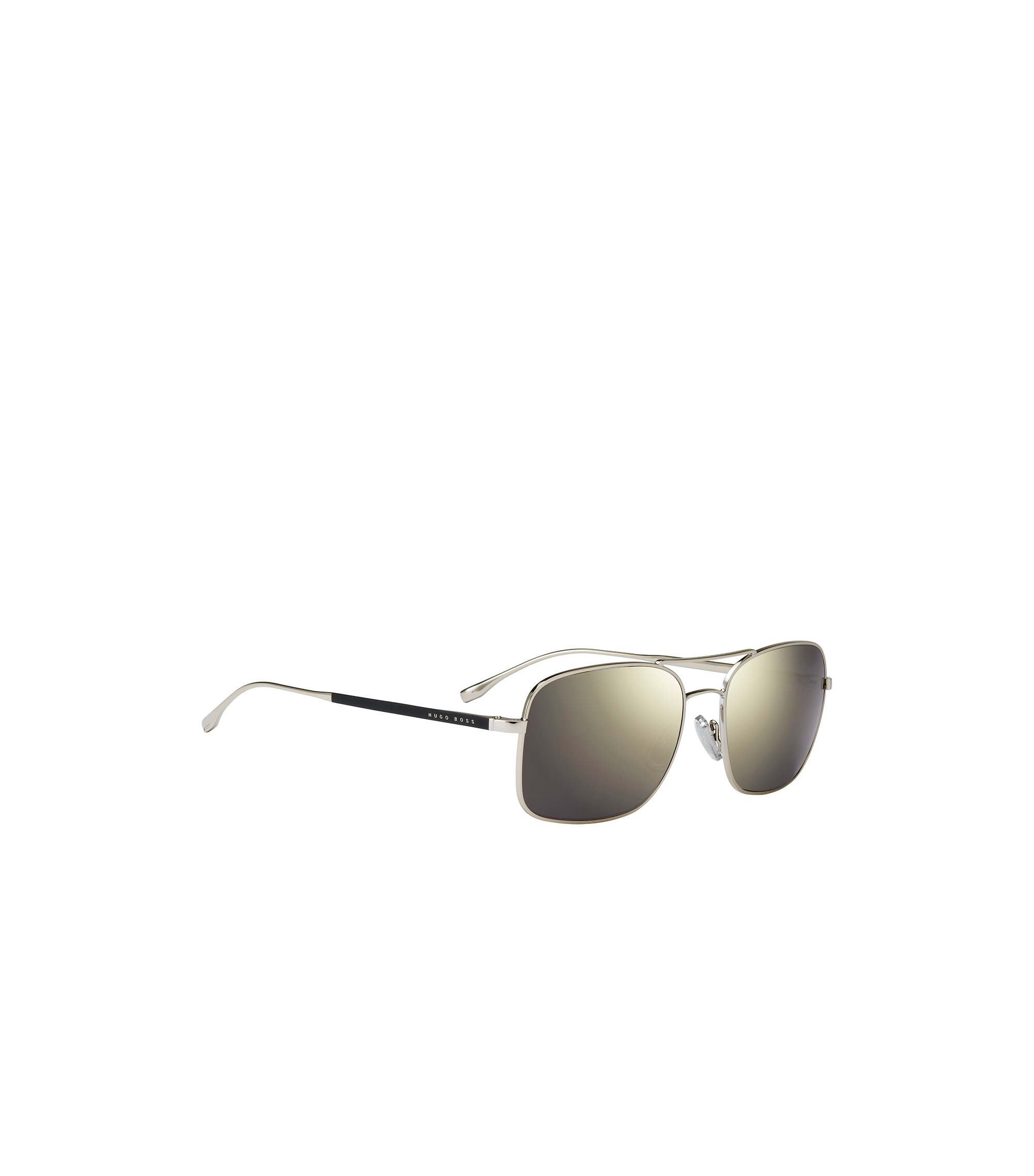 Eckige Sonnenbrille mit schmaler Metallfassung in Gold-Optik: 'BOSS 0781/S', Assorted-Pre-Pack