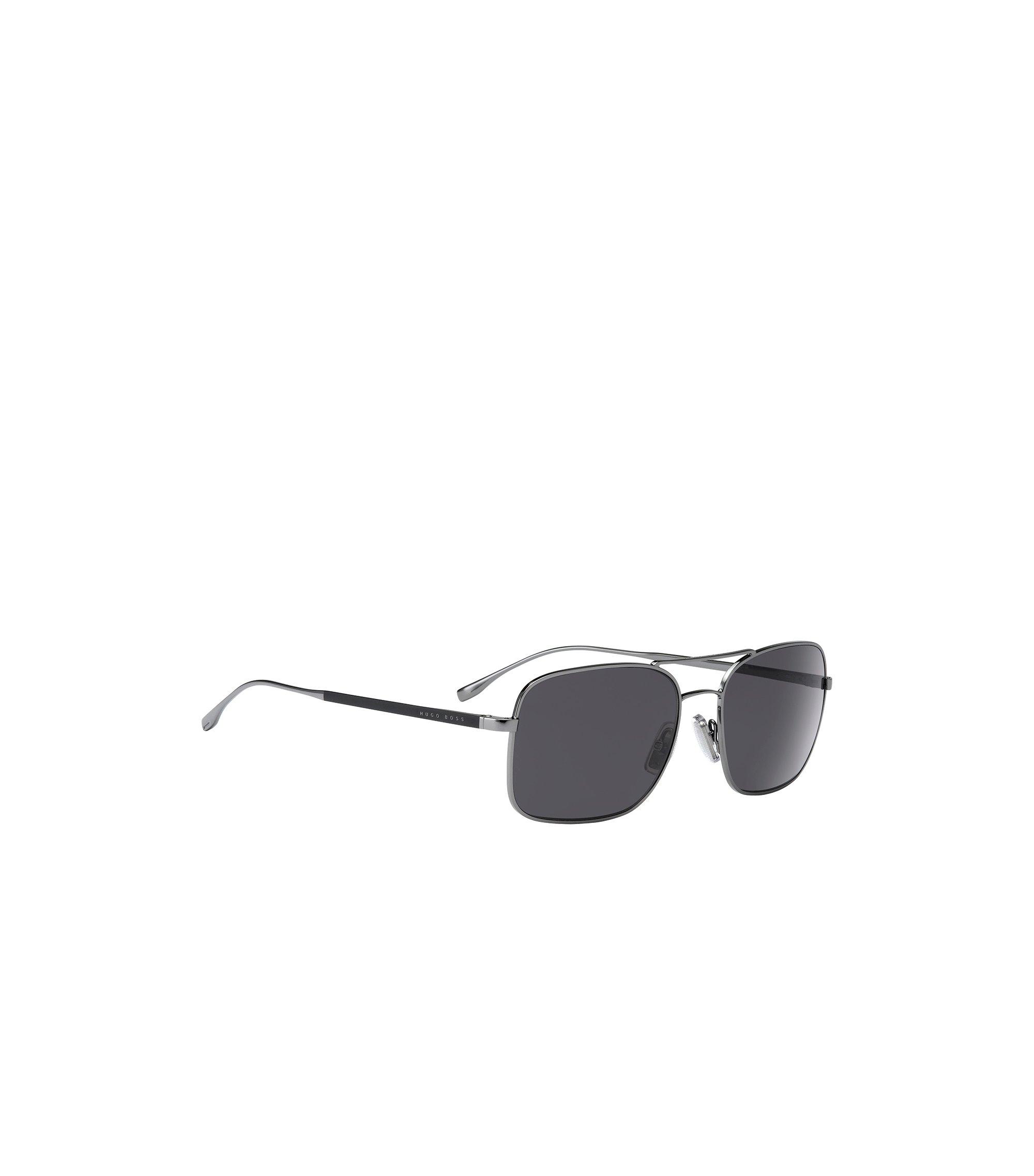 Hoekige zonnebril met smal montuur van metaal: 'BOSS 0781/S', Assorted-Pre-Pack