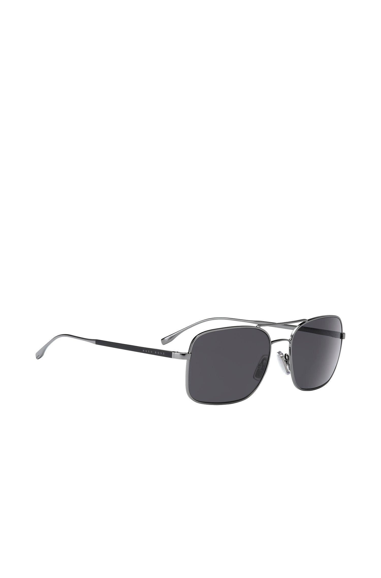 Hoekige zonnebril met smal montuur van metaal: 'BOSS 0781/S'